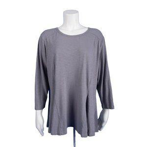 LOGO Lori Goldstein Womens Slub Tunic Top Shirt XL